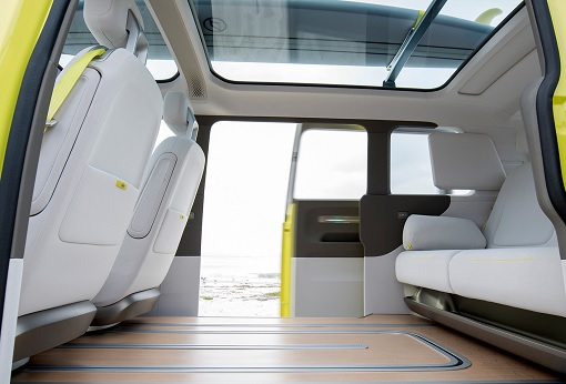 Volkswagen VW Electric Microbus 2022 - Side Slide Door Opens - 2