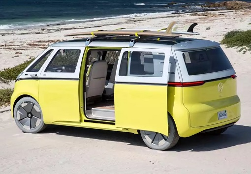 Volkswagen VW Electric Microbus 2022 - Side Slide Door Opens