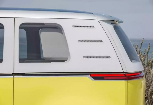 Volkswagen VW Electric Microbus 2022 - Side View - Rear