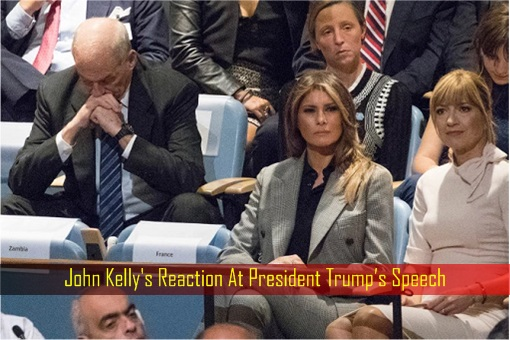 Destroy North Korea - John Kelly's Reaction At President Trump's Speech