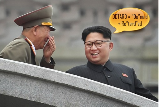 Dotard - Donald Retarded - North Korean Kim Jong-un Laughs At Donald Trump