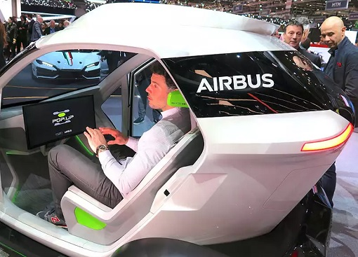 Flying Car - Airbus PopUp - Interior
