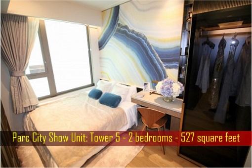 Hong Kong ChinaChem Parc City - Show Unit, 527 square feet - Bedroom 1