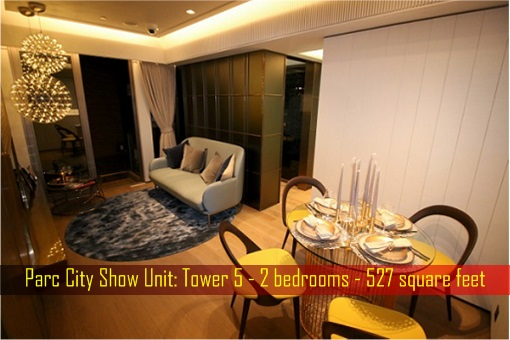 Hong Kong ChinaChem Parc City - Show Unit, 527 square feet - Dining and Living Room
