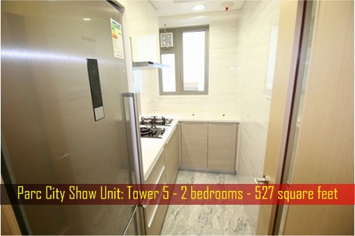 Hong Kong ChinaChem Parc City - Show Unit, 527 square feet - Kitchen