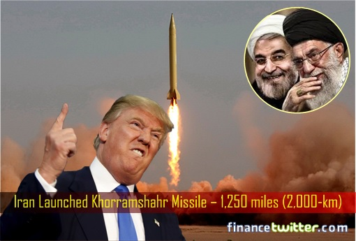 Iran Launched Khorramshahr Missile – 1,250 miles (2,000-km)