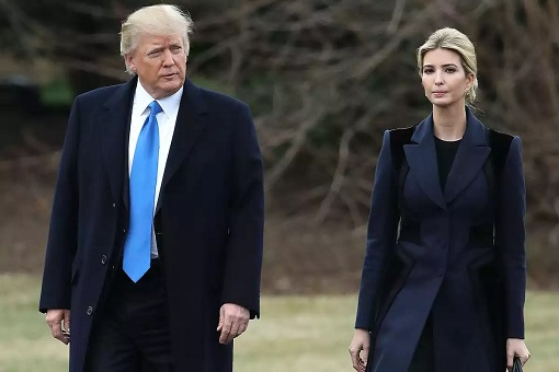 Ivanka Trump with Donald Trump - Walking Together
