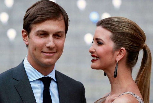 Jared Kushner with Ivanka Trump - Laughing