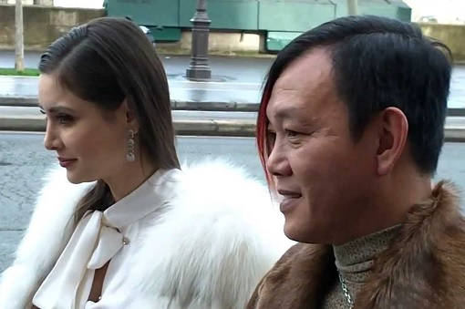 Macau Billionaire Stephen Hung with Mexican Wife Deborah Valdez - Close Up