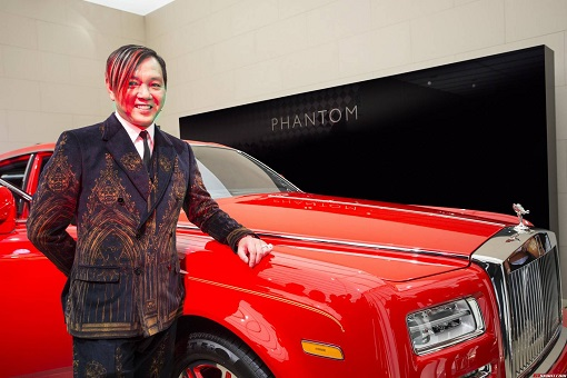 Macau Billionaire Stephen Hung - with custom Red Rolls Royce Phantom