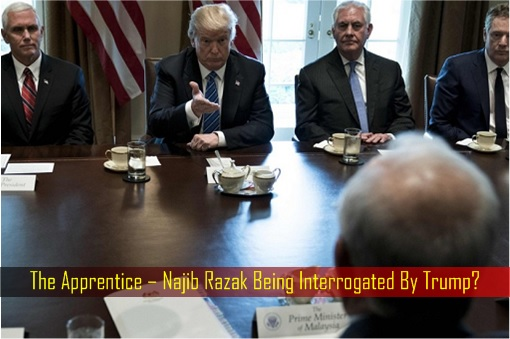 Najib Razak Meets Donald Trump at White House - Apprentice - Najib Interrogated by Trump