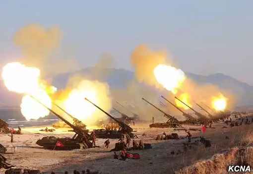 North Korea Artillery Firing