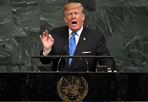 President Donald Trump Addressing United Nations