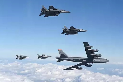 US Bombers and Fighter Jets at North Korea