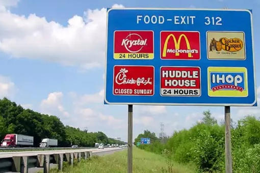 Chick-fil-A Restaurant - Close on Sunday - Fast Food Signboard Operating Hour
