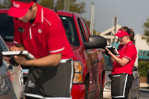 Chick-fil-A Restaurant - Customer Service at Drive Thru - Tablet To Take Order