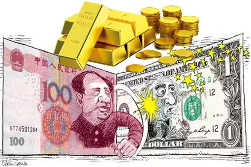 China Yuan Punching Challenging US Dollar - Backed with Gold