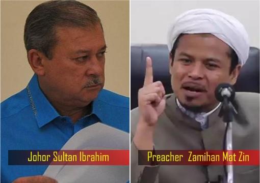 Johor Sultan Ibrahim vs Preacher Zamihan Mat Zin