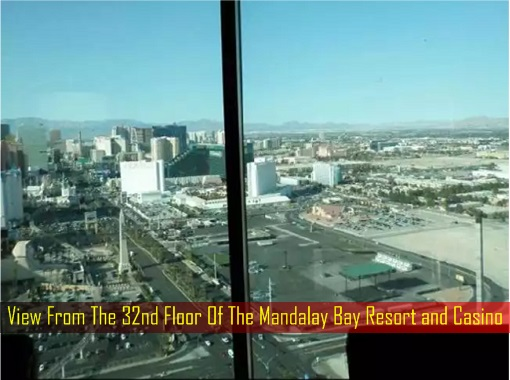 Las Vegas Shooting - View From The 32nd Floor Of The Mandalay Bay Resort and Casino