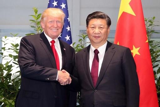 President Donald Trump Handshake President Xi Jinping