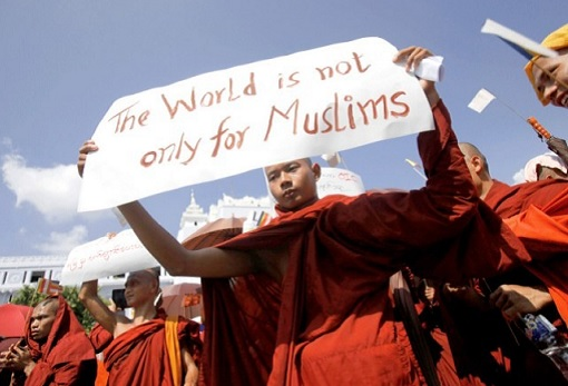 Rohingya Crisis - Monk Protest Against Rohingya Muslims