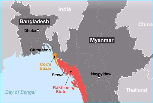 Rohingya Crisis - Myanmar Rakhine State - Map