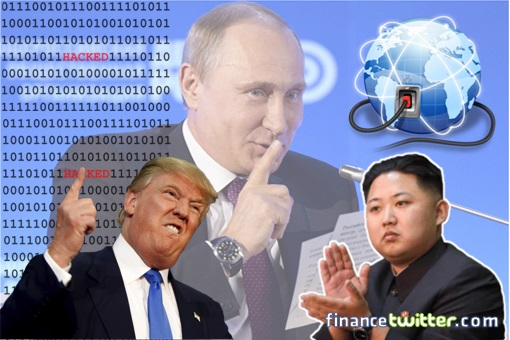 Russia Provides Internet Connection Link to North Korea - Vladimir Putin, Donald Trump and Kim Jong-un