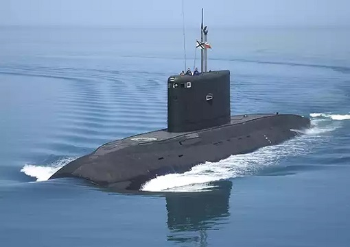 Russian Project Project 636 - Varshavyanka-class diesel-electric submarines - Floating