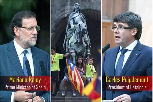 Spain Prime Minister Mariano Rajoy - President of Catalonia Carles Puigdemont