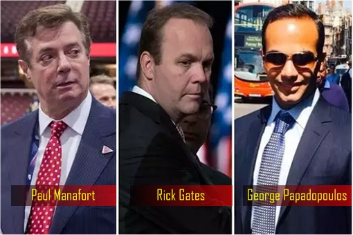 Trump Campaign Aides Charged - Paul Manafort, Rick Gates and George Papadopoulos