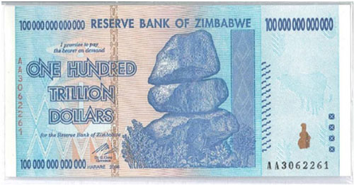 Zimbabwe – 100 trillion dollars, 2006