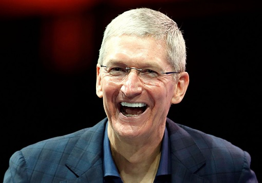 Apple CEO Tim Cook Laughing
