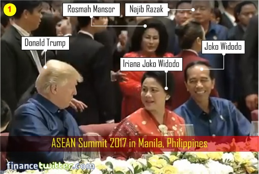 Ungrateful Trump Pretends Didn't See Golf Buddy Najib & Oversized Rosmah