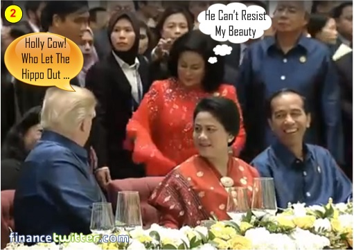 Asean Summit Manila 2017 - President Trump Pretends Not Seeing Najib and Rosmah - 2
