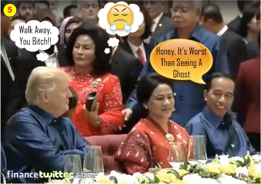 Asean Summit Manila 2017 - President Trump Pretends Not Seeing Najib and Rosmah - 5