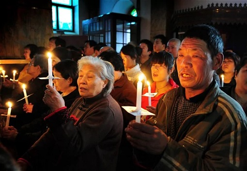 Christians in China - Holding Candles