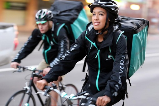 Deliveroo Editions Dark Kitchens - Delivery Cyclists On The Move