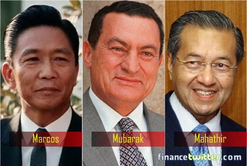 Dictator and Corrupt Leaders - Ferdinand Marcos, Hosni Mubarak and Mahathir Mohamad