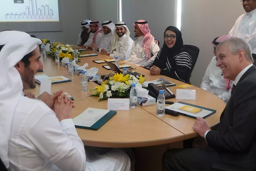 Foreigner Having Meeting with Saudis
