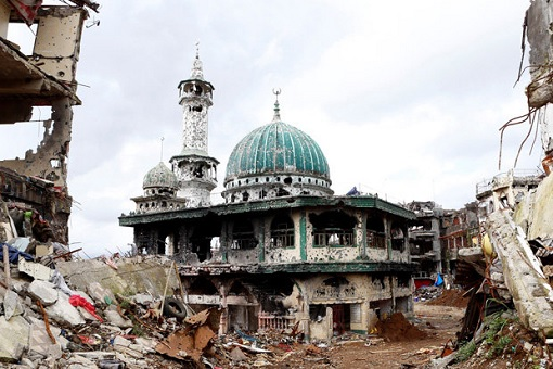 Philippines Marawi Mosque - Bombed for Terrorists