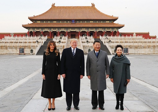 President Donald Trump and Melania Visit China Forbidden City