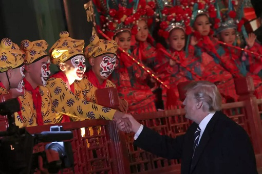 President Donald Trump and Melania Visit China - Meets Opera Performers