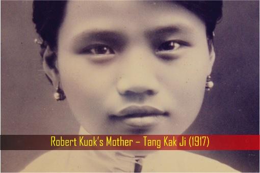 Robert Kuok's Mother – Tang Kak Ji - 1917