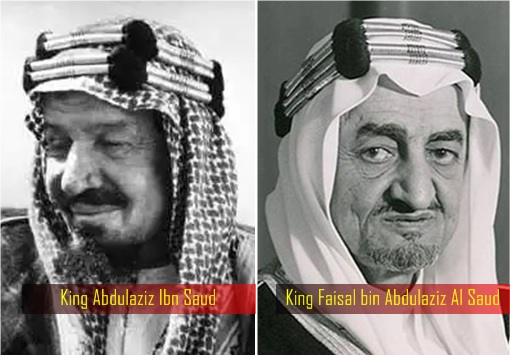 Saudi King Abdulaziz Ibn Saud and King Faisal