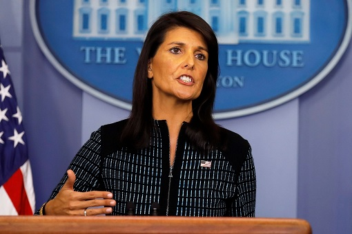 U.S. Ambassador to the United Nations - Nikki Haley