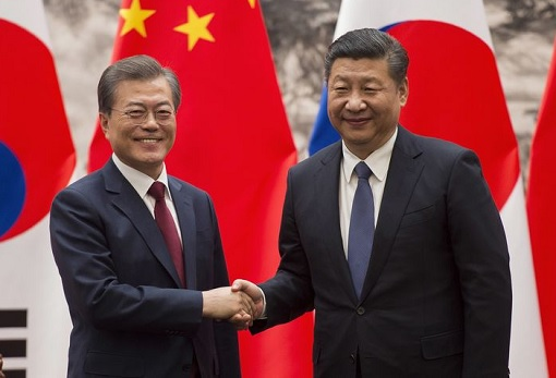 China President Xi Jinping Meets South Korea President Moon Jae-in