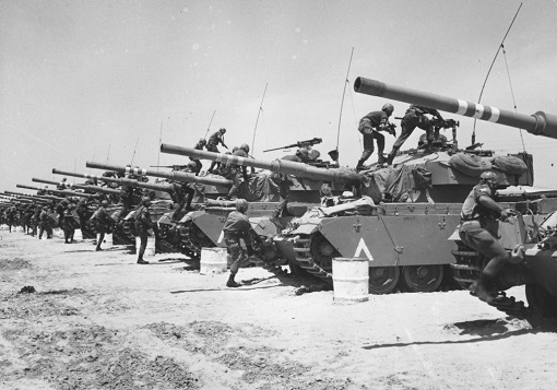 Israel-Arab Six-Day War - Israel Tanks