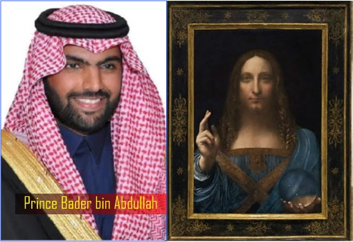 Leonardo da Vinci Salvator Mundi - Savior of the World - Prince Bader bin Abdullah
