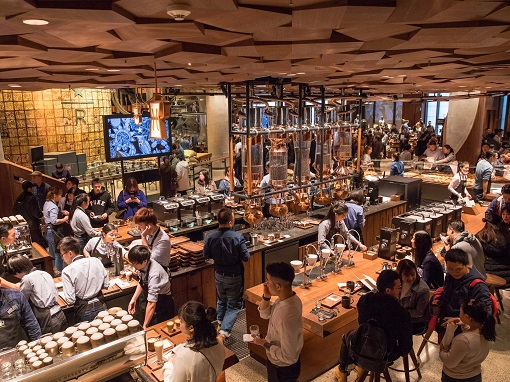 Starbucks opened its largest store in Shanghai and it's 30000 sq ft