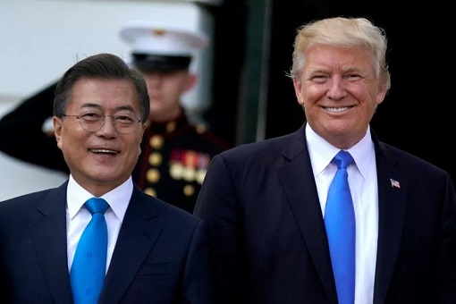 US President Donald Trump Meets South Korea President Moon Jae-in
